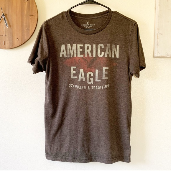 NWT American Eagle AE Favorite Graphic Tee Brown